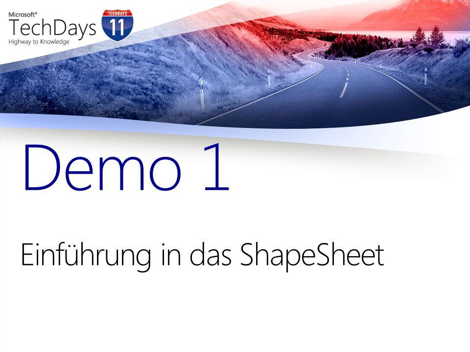 Einführung in das ShapeSheet Demo 1