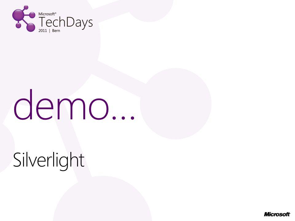 Silverlight demo…
