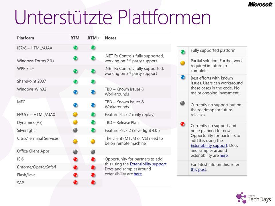 Unterstützte Plattformen 3