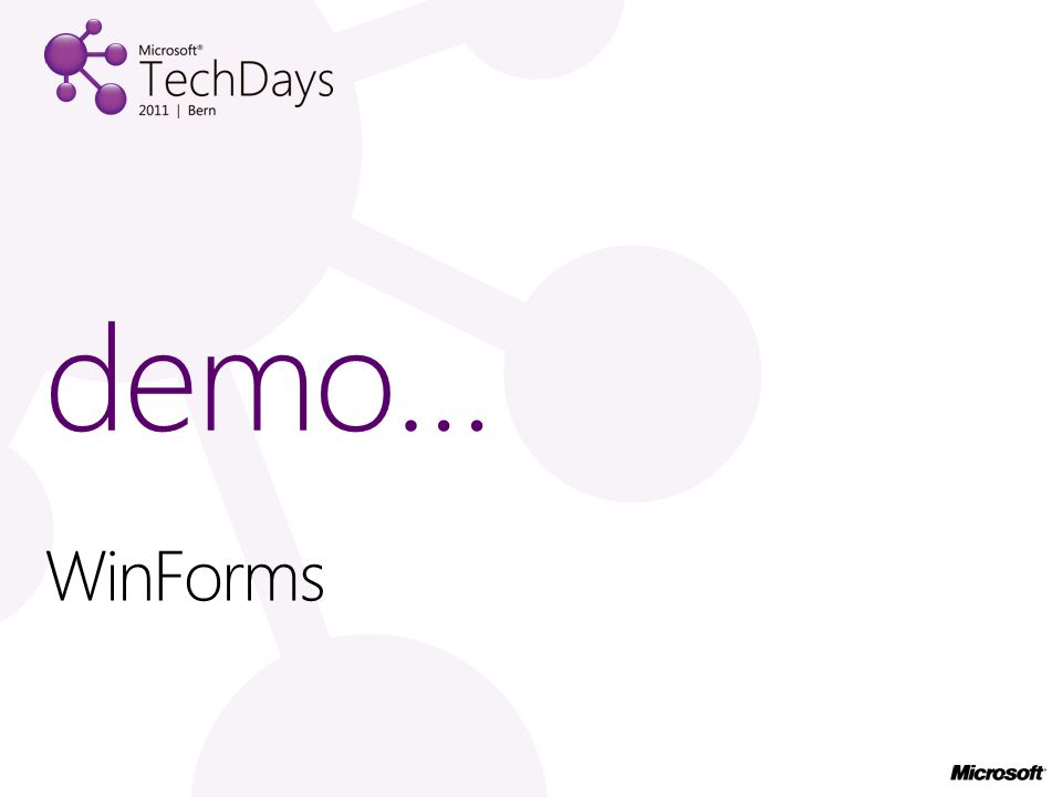 WinForms demo…