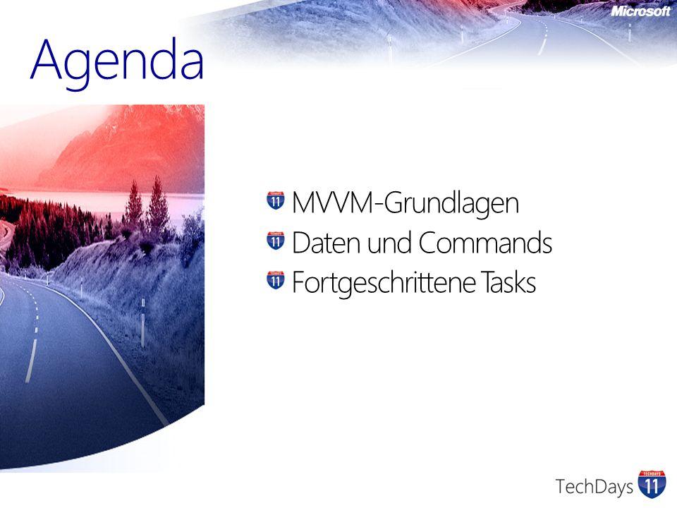 Model das Datenmodell View die Benutzeroberfläche Controller behandelt Benutzereingaben und modifiziert das Model Model-View-Controller – der Ursprung von MVVM View Controller Model