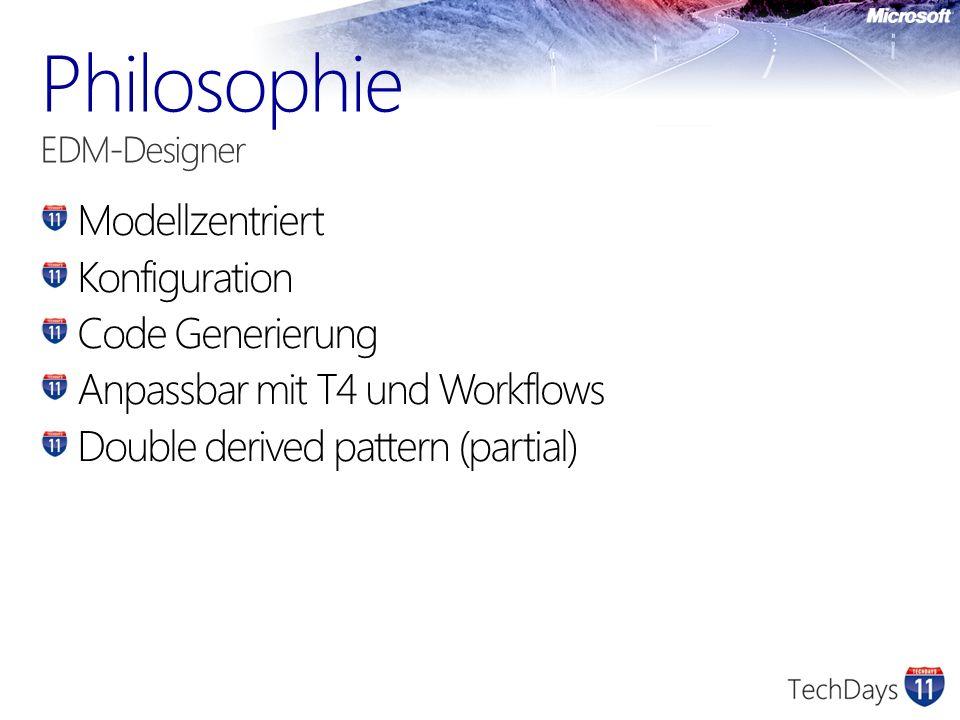 Modellzentriert Konfiguration Code Generierung Anpassbar mit T4 und Workflows Double derived pattern (partial)