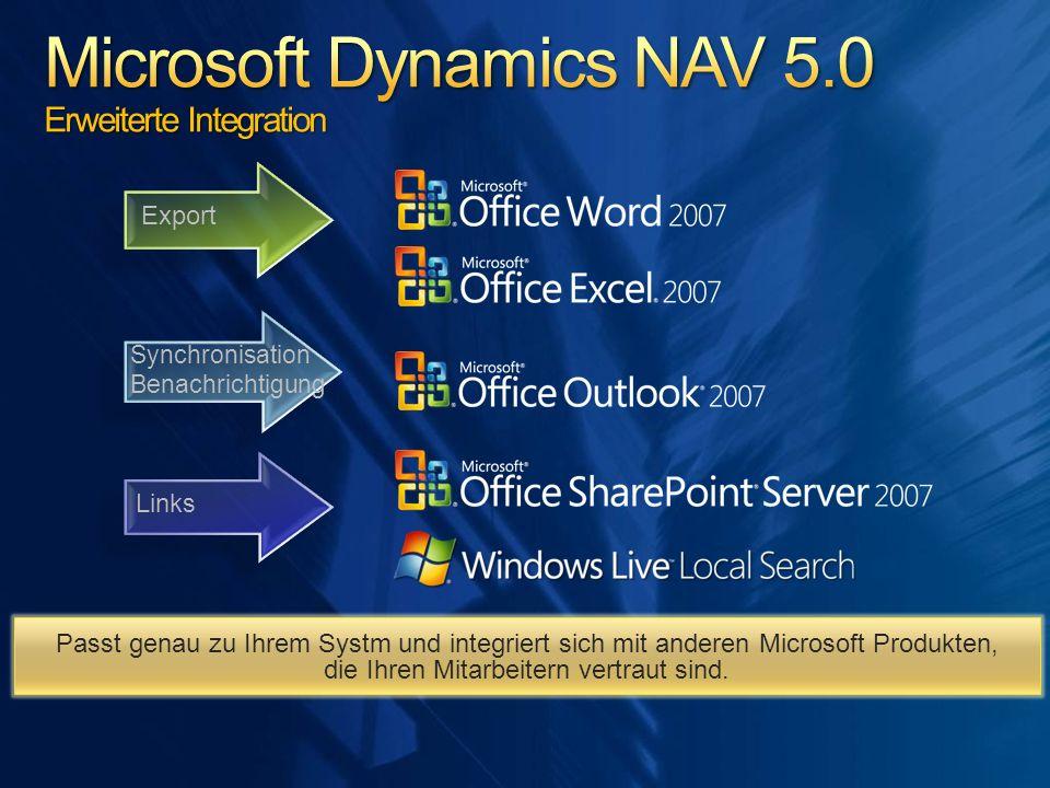 Export Links Synchronisation Benachrichtigung Passt genau zu Ihrem Systm und integriert sich mit anderen Microsoft Produkten, die Ihren Mitarbeitern v