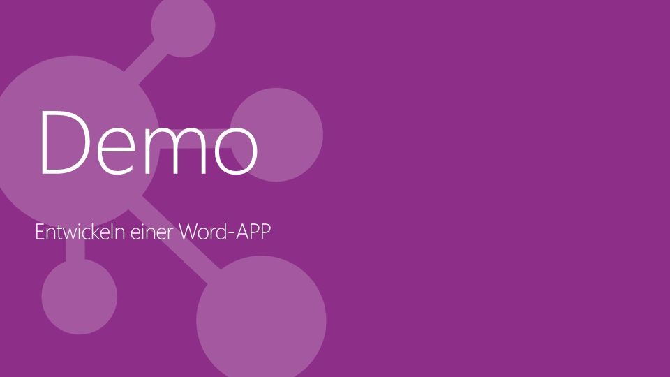 Demo Entwickeln einer Word-APP