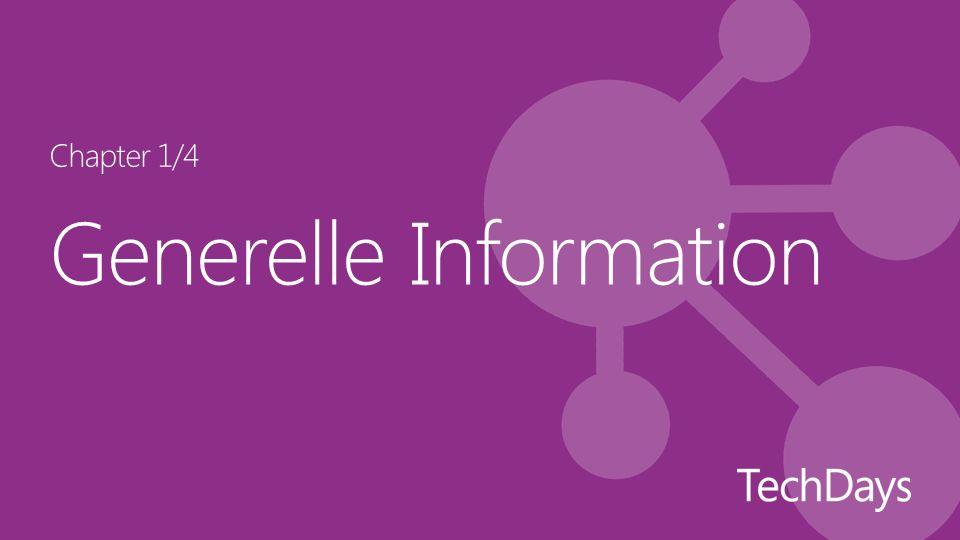 Generelle Information Chapter 1/4