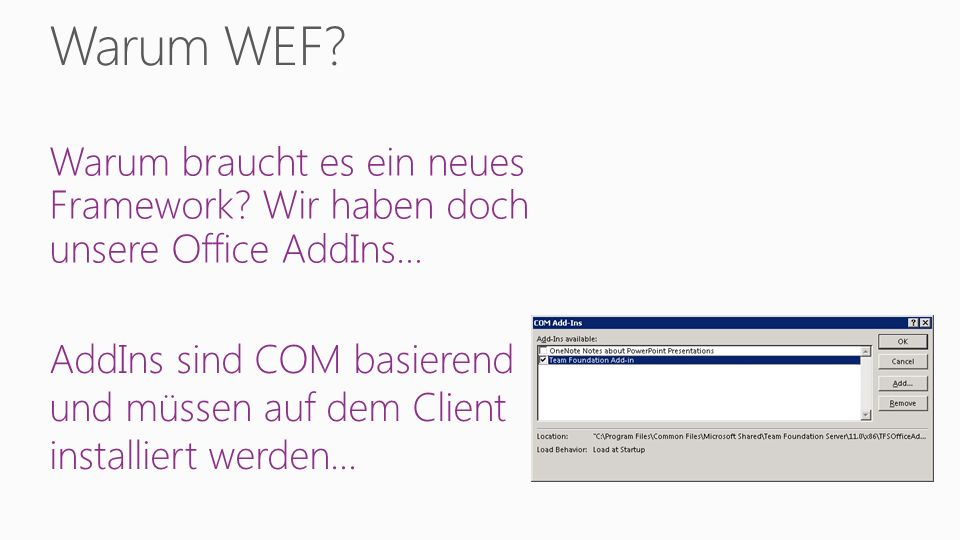 Office AddIns leben noch immer… Jedoch nicht in Office 365.