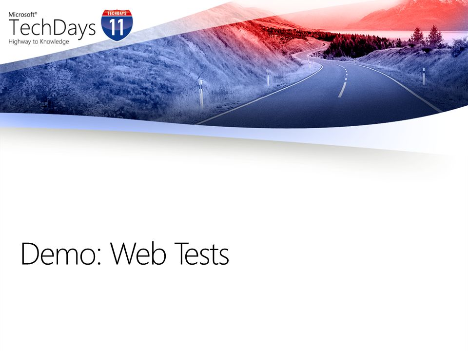 Demo: Web Tests