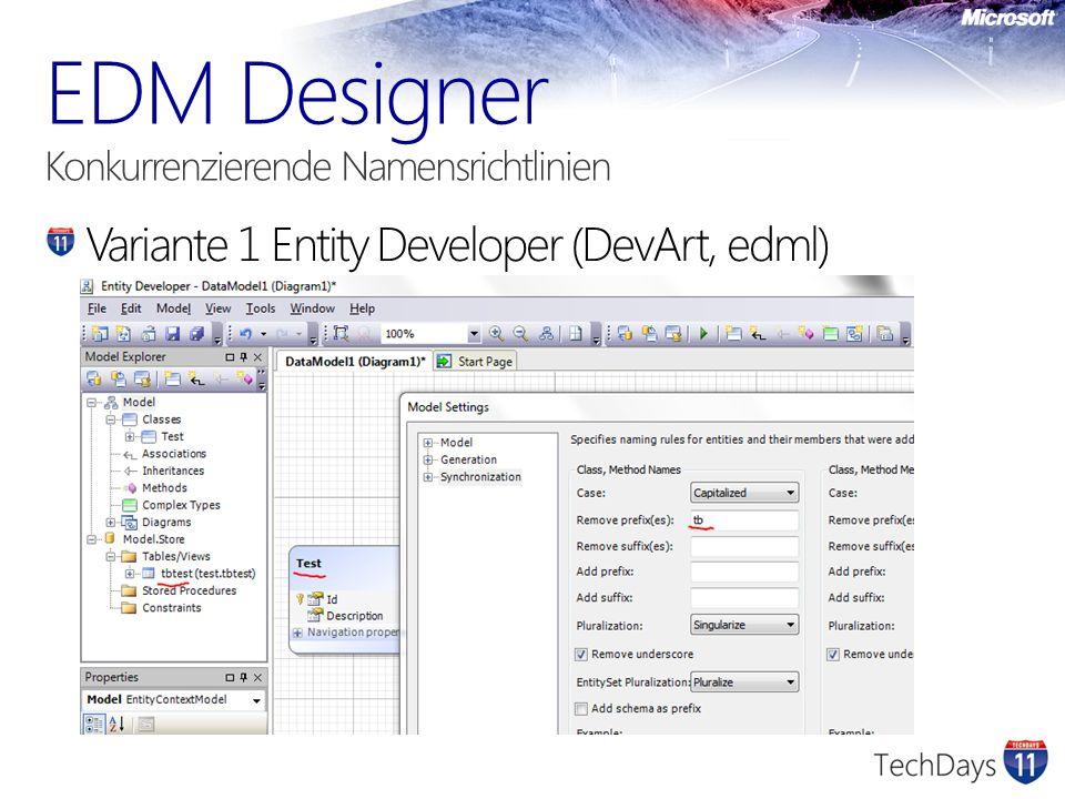 Variante 1 Entity Developer (DevArt, edml)