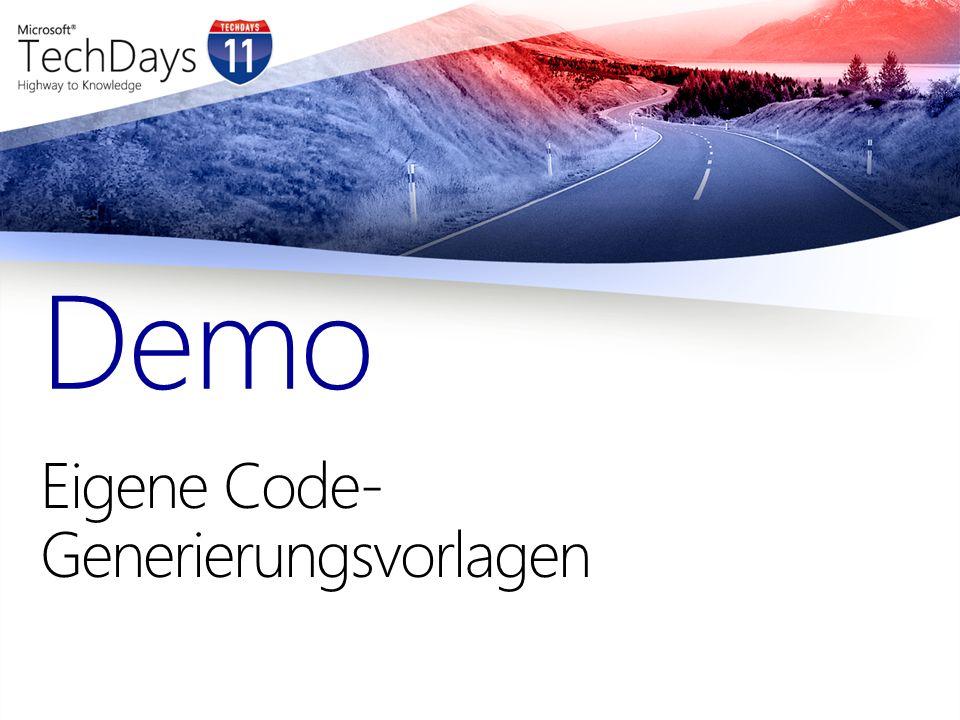 Eigene Code- Generierungsvorlagen Demo