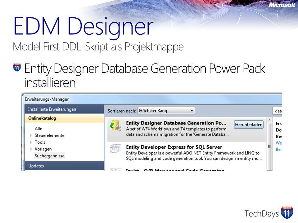 Entity Designer Database Generation Power Pack installieren