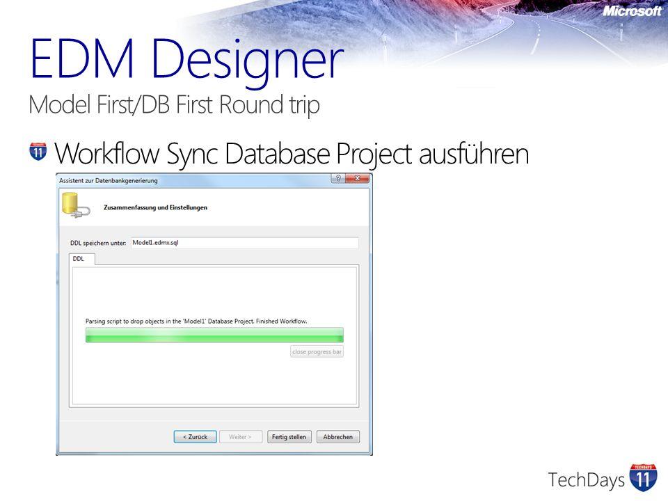 Workflow Sync Database Project ausführen