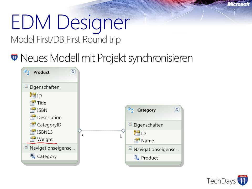 Neues Modell mit Projekt synchronisieren
