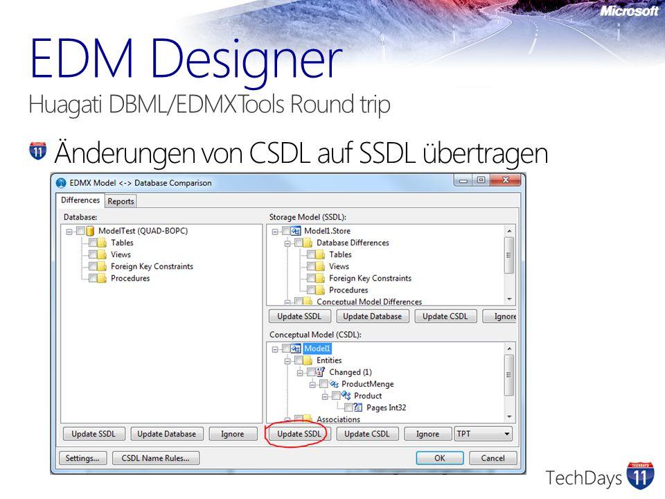 Änderungen von CSDL auf SSDL übertragen