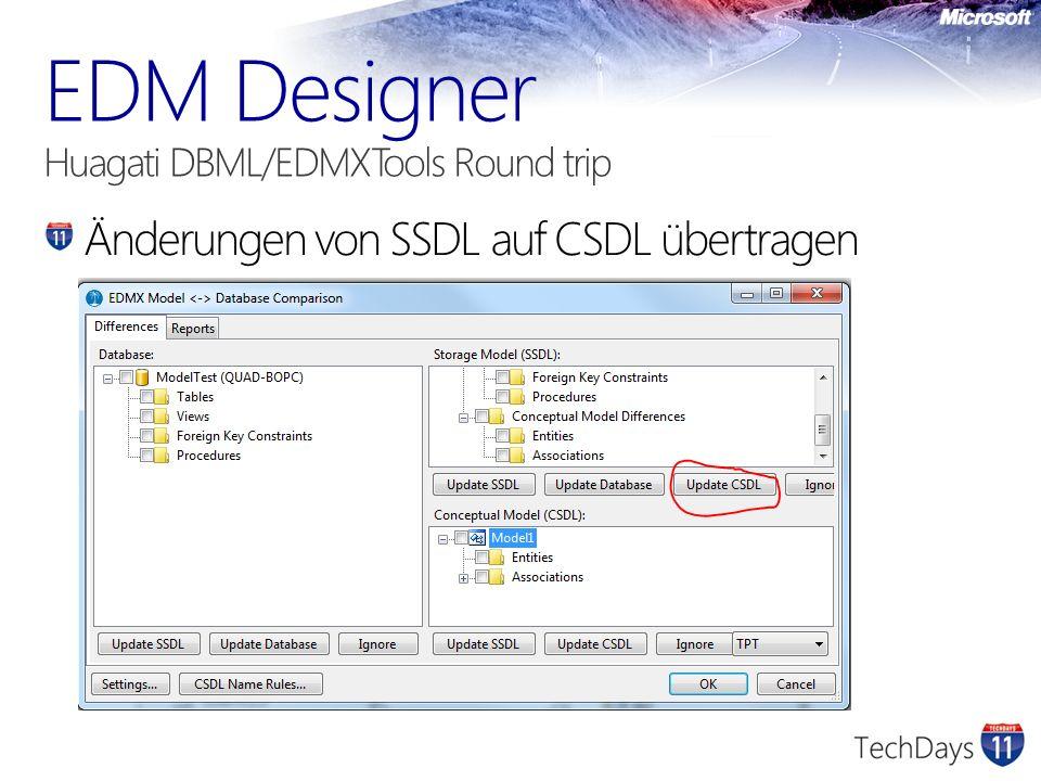 Änderungen von SSDL auf CSDL übertragen