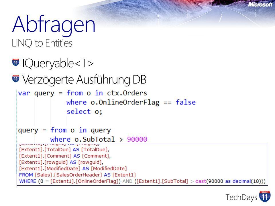 IQueryable Verzögerte Ausführung DB