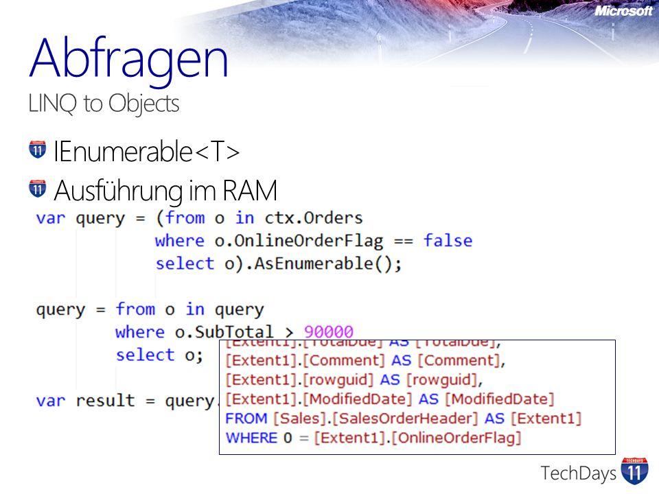 IEnumerable Ausführung im RAM