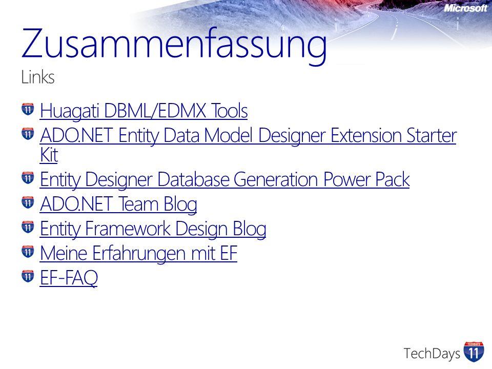 Huagati DBML/EDMX Tools ADO.NET Entity Data Model Designer Extension Starter Kit Entity Designer Database Generation Power Pack ADO.NET Team Blog Enti
