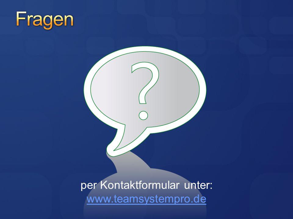 per Kontaktformular unter: www.teamsystempro.de www.teamsystempro.de