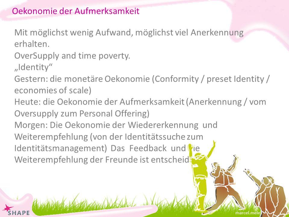 marcel.meier@online.ch Mit möglichst wenig Aufwand, möglichst viel Anerkennung erhalten.