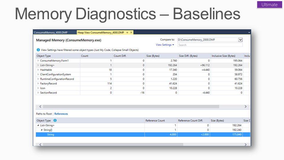 Memory Diagnostics – Baselines