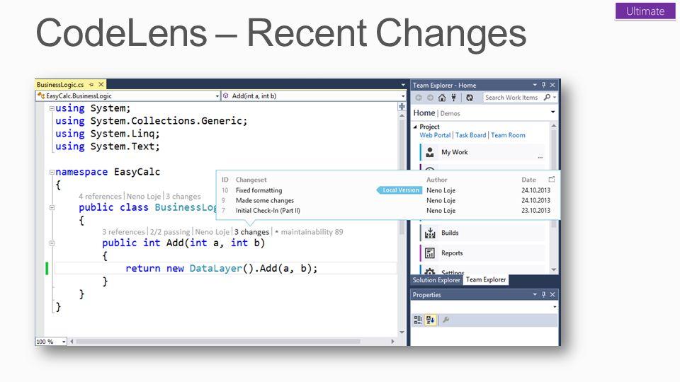 CodeLens – Recent Changes
