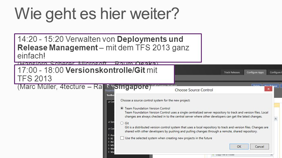 Was Sie gesehen haben… Data-Driven Unit Tests Coded UI Tests Test Labs mit Standard Environments Microsoft Test Manager (MTM) Microsoft Feedback Client TFS 2013 Features