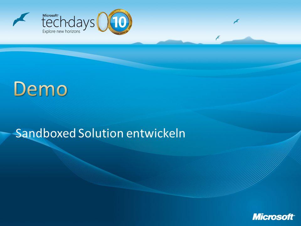 Sandboxed Solution entwickeln