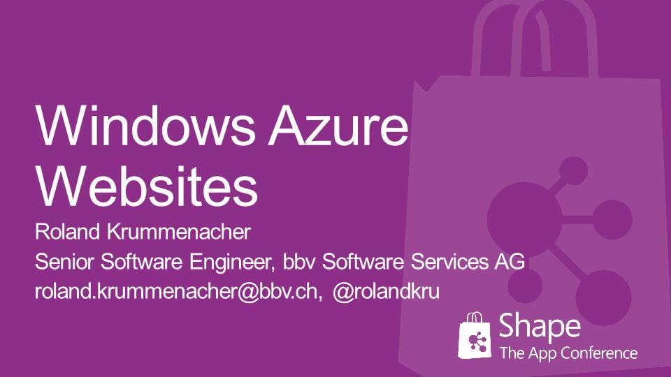 Reserved Mode kann günstiger sein Pay-as-you-go Skalierung in Sekunden SLA 99.95 % monatlich Windows Azure Templates