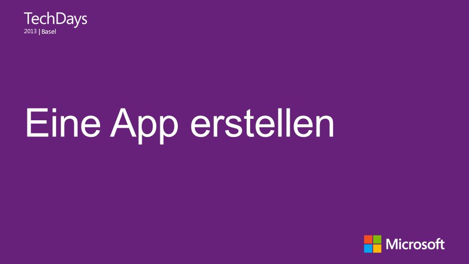 | Basel Eine App erstellen