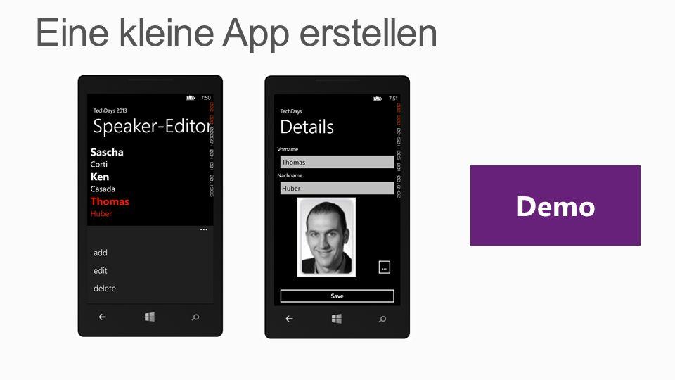 Eine kleine App erstellen Demo
