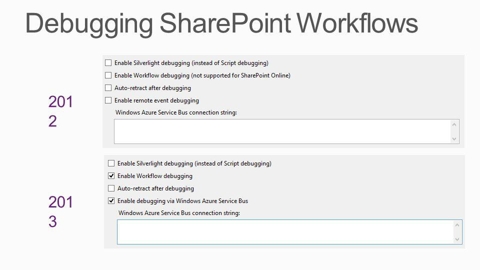 Debugging SharePoint Workflows