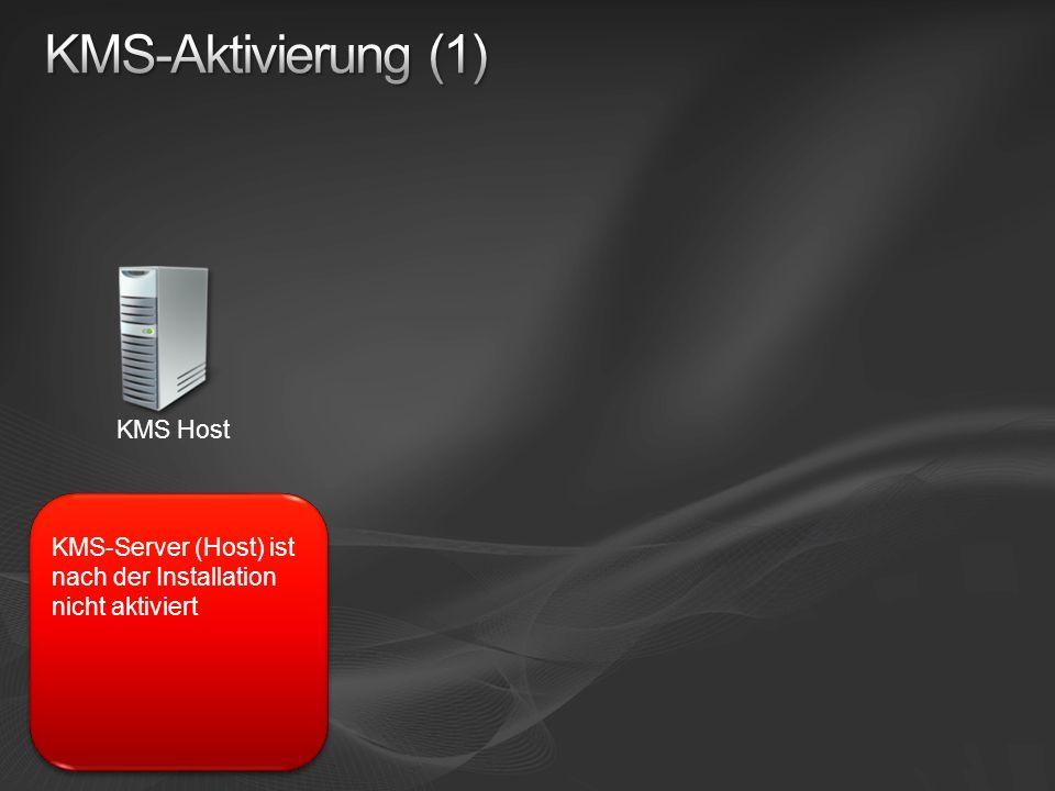 KMS Host KMS-Server (Host) ist nach der Installation nicht aktiviert