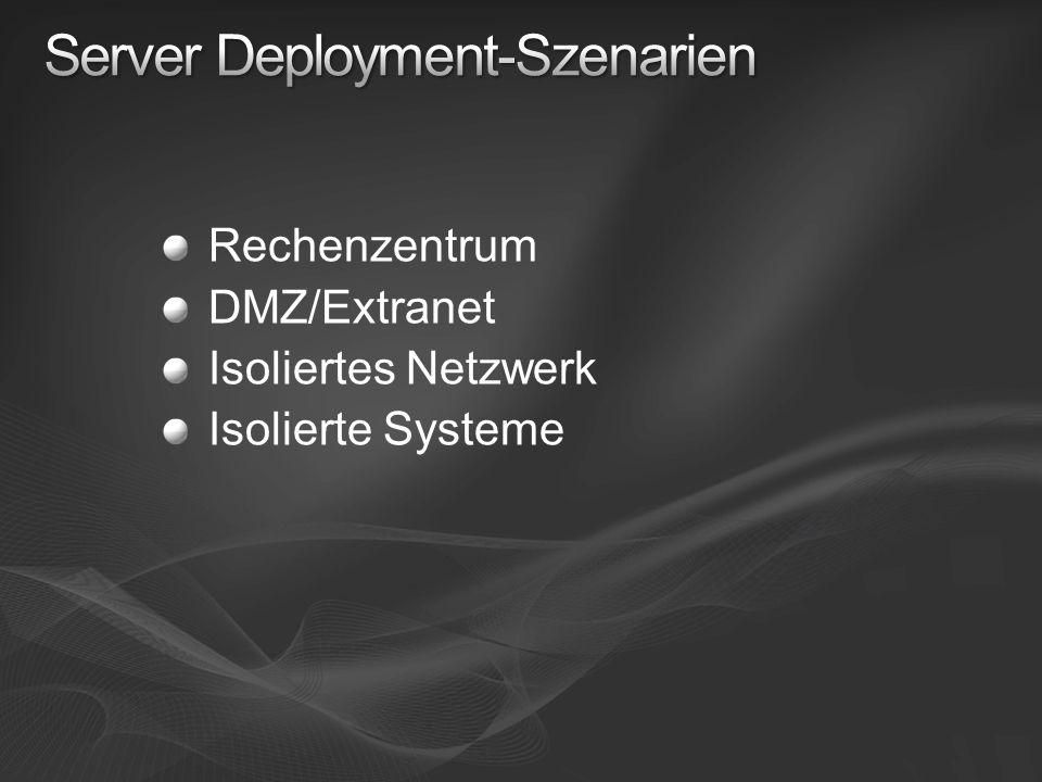 Rechenzentrum DMZ/Extranet Isoliertes Netzwerk Isolierte Systeme