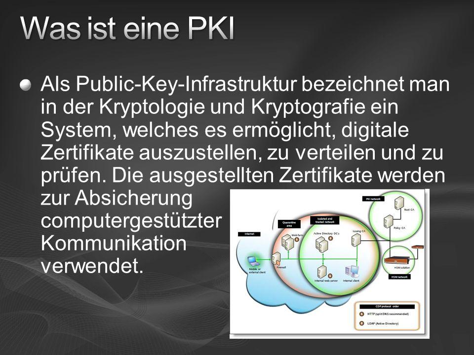 Als Public-Key-Infrastruktur bezeichnet man in der Kryptologie und Kryptografie ein System, welches es ermöglicht, digitale Zertifikate auszustellen,