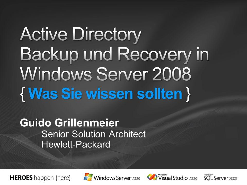 Guido Grillenmeier Senior Solution Architect Hewlett-Packard