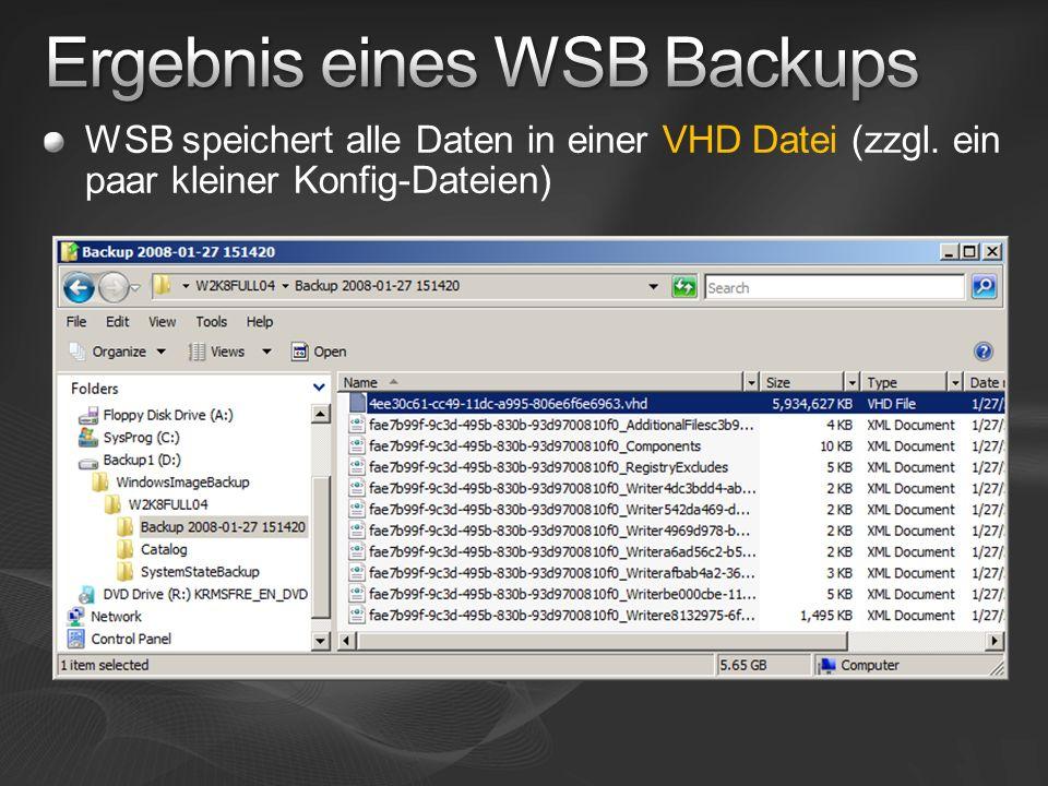 WSB speichert alle Daten in einer VHD Datei (zzgl. ein paar kleiner Konfig-Dateien)