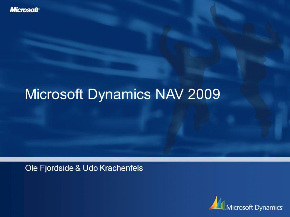 Microsoft Dynamics NAV 2009 Ole Fjordside & Udo Krachenfels
