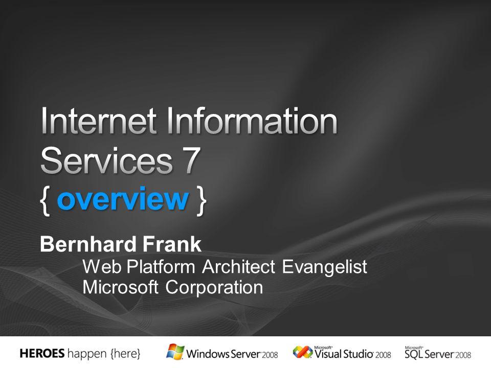 Bernhard Frank Web Platform Architect Evangelist Microsoft Corporation