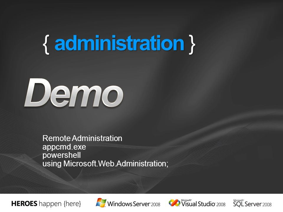 { administration } Remote Administration appcmd.exe powershell using Microsoft.Web.Administration;