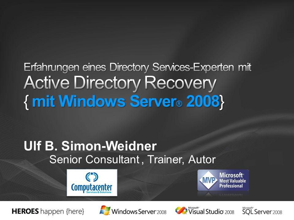 Ulf B. Simon-Weidner Senior Consultant, Trainer, Autor