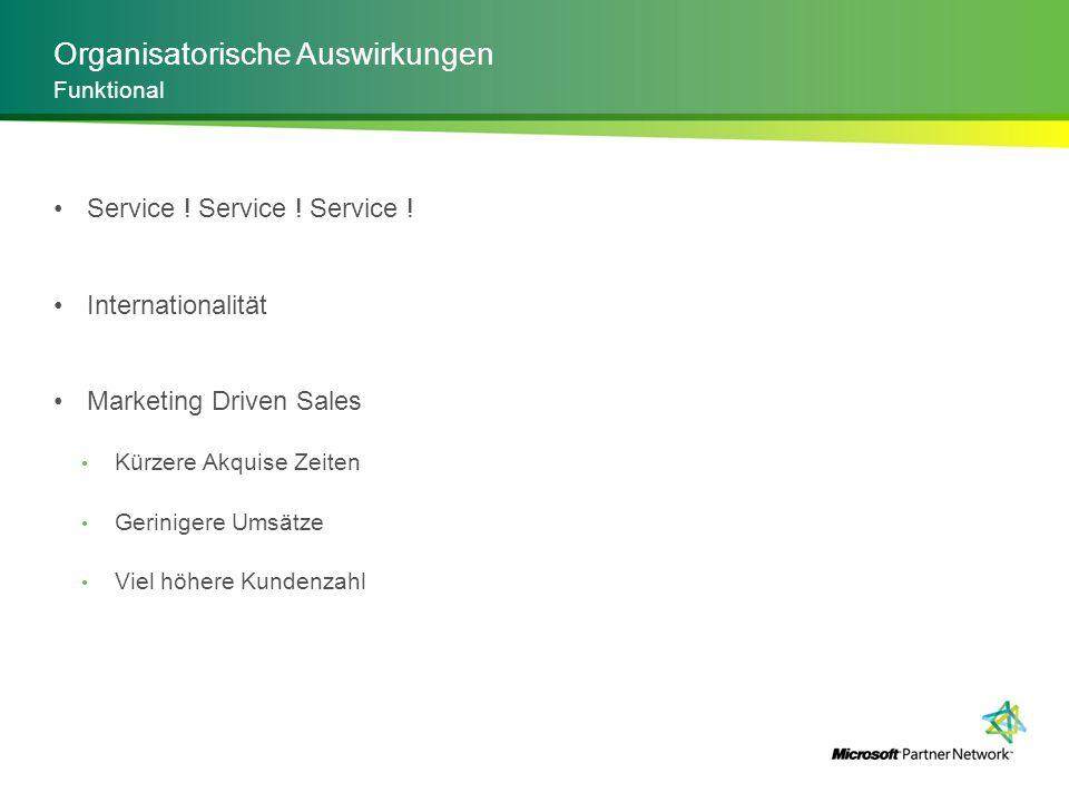 Organisatorische Auswirkungen Service . Service .