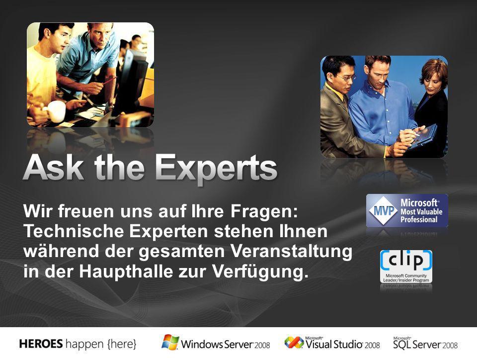 Wir freuen uns auf Ihre Fragen: Technische Experten stehen Ihnen während der gesamten Veranstaltung in der Haupthalle zur Verfügung.