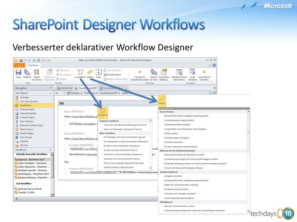 Verbesserter deklarativer Workflow Designer