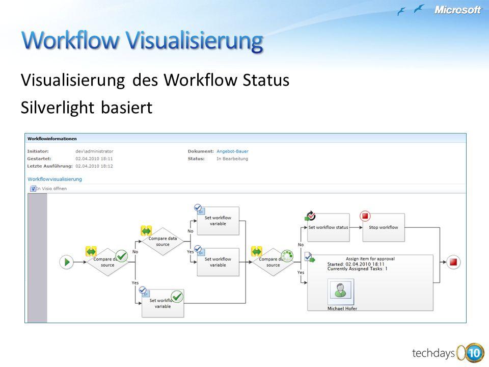 Visualisierung des Workflow Status Silverlight basiert