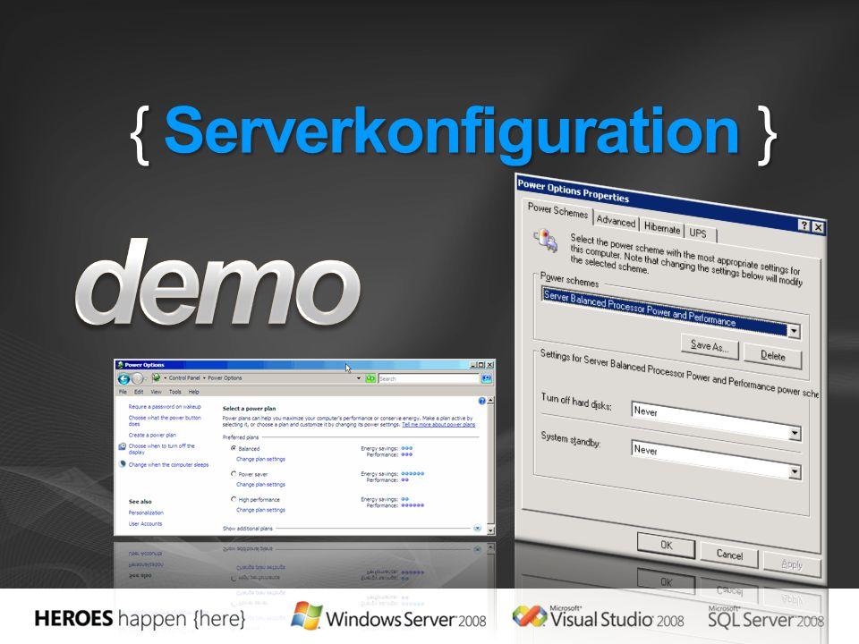 { Serverkonfiguration }