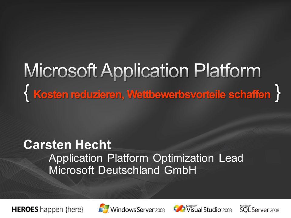 Carsten Hecht Application Platform Optimization Lead Microsoft Deutschland GmbH
