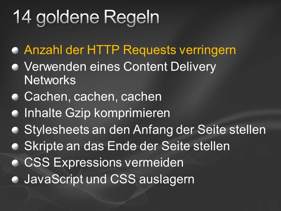 Skriptdownload verhindert einen weiteren, parallelen Download Skript könnte die Seite ändern ( document.write ) Ausführungsreihenfolge der Skripte High Performance Web Sites, 8.3.