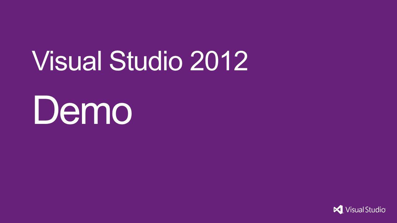 Demo Visual Studio 2012