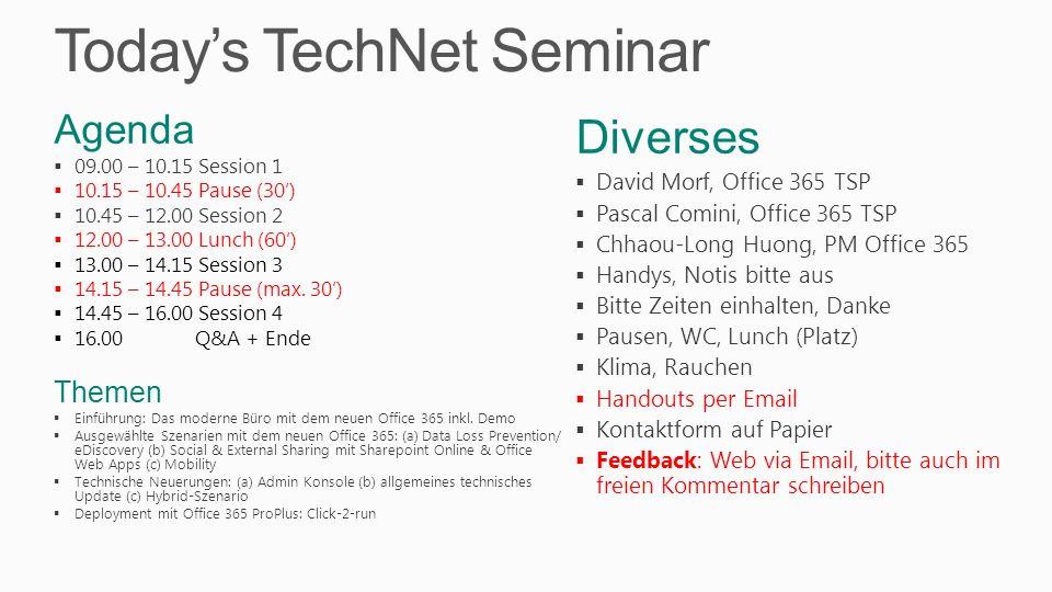 IT Pro Evaluation Wettbewerb www.microsoft.ch/evaluation Downloaden (1 - 6 Produkte) 1.