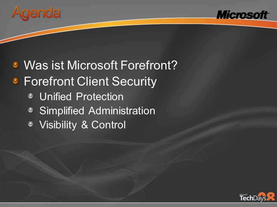 Was ist Microsoft Forefront.